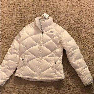 White NorthFace Puffy Coat